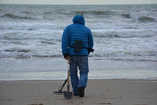 Fortune-hunter, Man, People, Sea, Beach