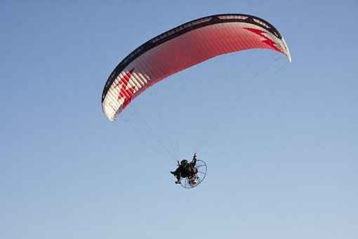 Sky, Hang Glider, Flying, From The Bottom Of The, View