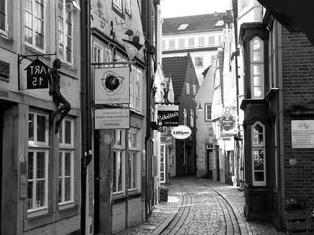 Bremen Schnoor, Old Town, Schnoor, Old Houses, Gang