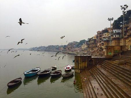 Varanasi, Ghats, India, River, Hindu, Ganges, Travel