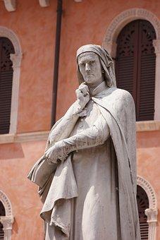 Verona, Dante, Piazza, Italy, Ancient, Monument