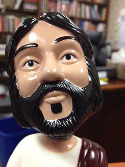 Bobble Head, Jesus, Religious, Toy, Miniature, Figure