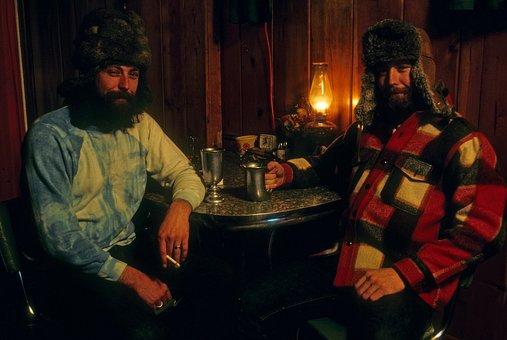Cabin, Alaska, Men, Hunter, House, Rustic, Log, Old