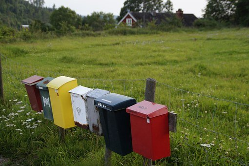 Letter Boxes, Mailbox, Post, Colorful, Idyllic, Sweden
