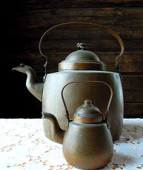 Pot, Kitchen, Coffee, Coffeepot, The Dish, Retro, Home