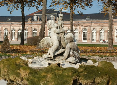 Palace, Garden, Sculptures, Putti, Fountain, Statues