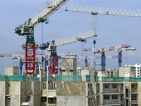 Construction, Site, Crane, Building Construction