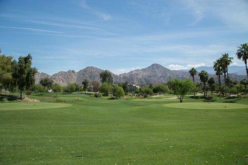 Mountain, Golf, California, Golf Course, Landscape, Sky