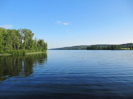 Asasjön, Småland, Sweden, Lake, Water, Nature, Calm