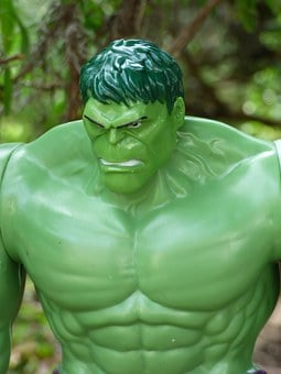 Hulk, Super Hero, Toy, Green, Monster, Plastic