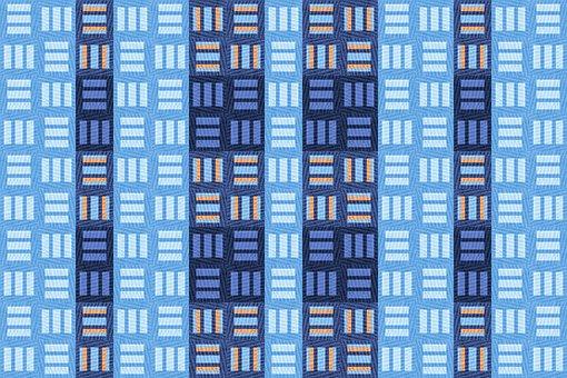 Textile, Structure, Texture, Grid, Cubes, Blue, Pastels