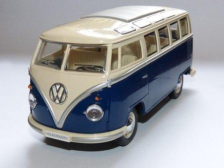 Toy, Van, Volkswagen, Miniature