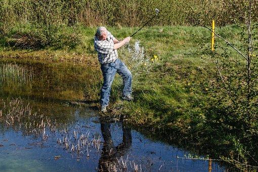Golf, Golfers, Water Hazard, Golf Swing, Golf Course