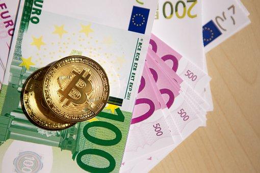 Money, Euros, Bitcoin, Btc, Cryptocurrency