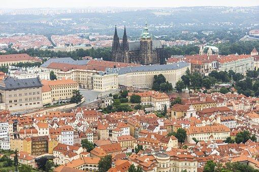 Prague, City, Panorama, Buildings, Prague Castle