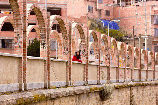 Bridge, Arches, Structure, Woman, Smile, Urban, City