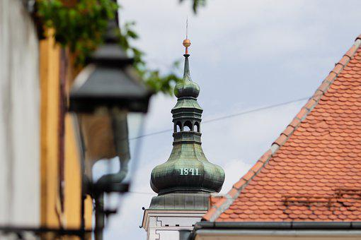 Church, Tower, Town, Steeple, Building, Roof, Urban