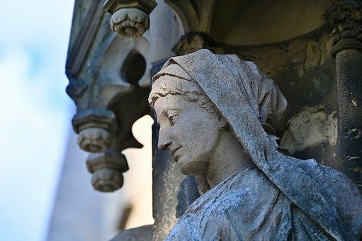 Sculpture, Statue, Angel, Church, Religion