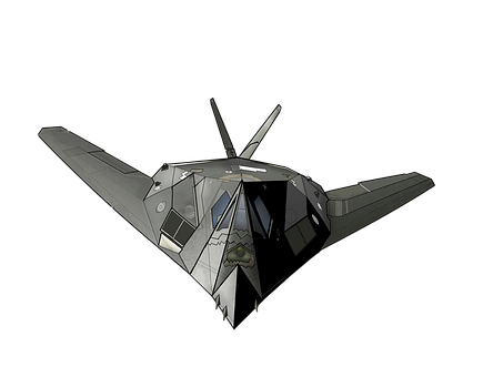 Airplane, Aircraft, Air Force, F-117, Fighter Aircraft