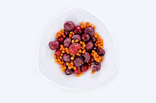 Fruits, Frozen, Cherry, Bowl