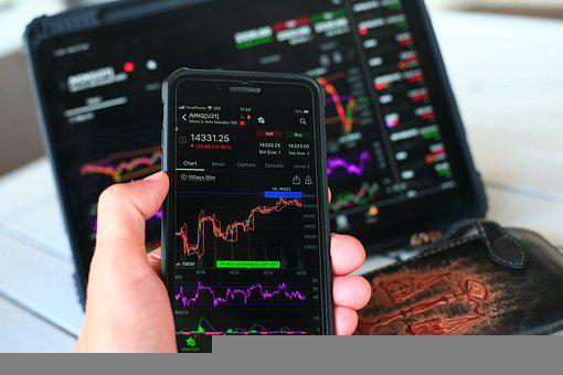 Stock Market, Chart, Smartphone, Finance, Investment
