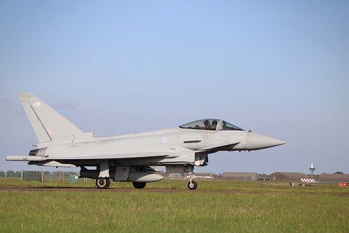 Jet, Aircraft, Military, Eurofighter, Typhoon, Hangar
