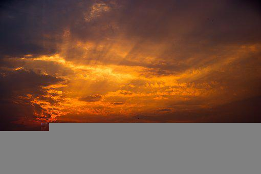 Sunset, Sky, City, Silhouette, Skyline, Sunlight
