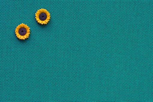 Sunflower, Plastic Buttons, Texture, Material