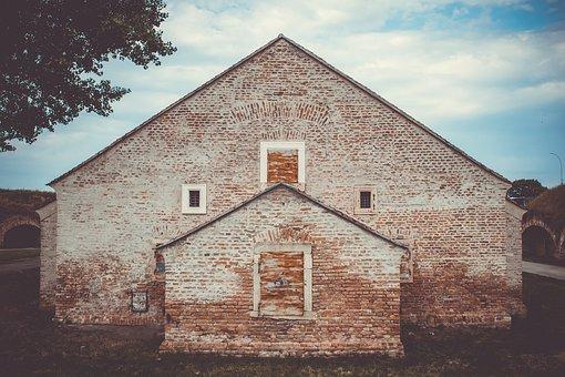 Building, Monastery, Brick, Masonry, Wall, Texture