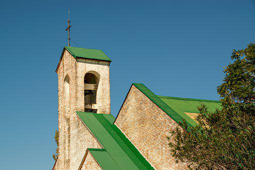Church, Bell Tower, Cross, Architecture, Roof, Building