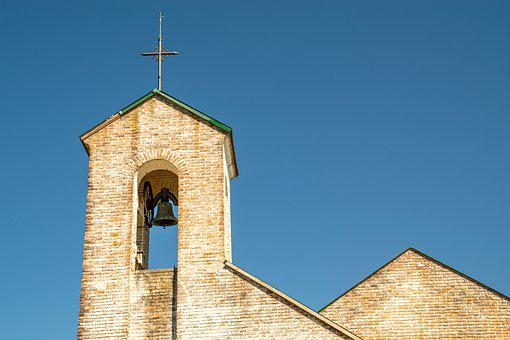 Church, Bell Tower, Cross, Architecture, Building