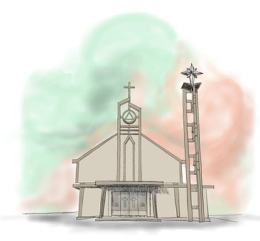 Church, Architecture, Vietnam, Building, Facade, Cross