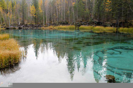 Geyser Lake, Lake, Forest, Reflection, Water, Nature