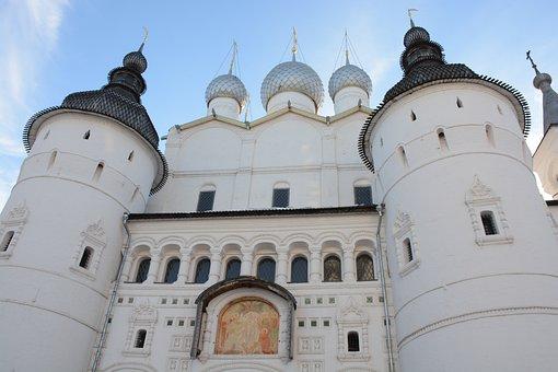 Temple, Building, Rostov, Kremlin, Velikiy, Church