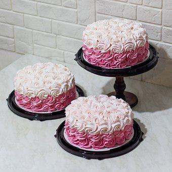Desserts, Cakes, Food, Pastries, Rose Icing, Sweet