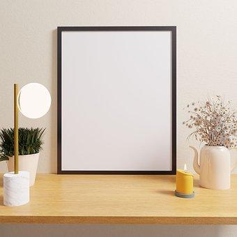 Frames, Photo, Desk, Template, Decor, Decorative