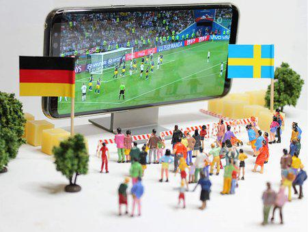 Football, Public Viewing, Miniature Figures, Viewers