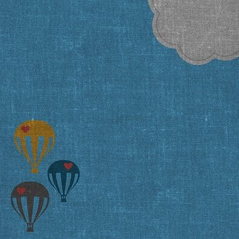 Hot Air Balloons, Sky, Background, Cloud, Hearts