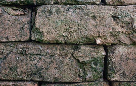 Brick, Stone, Wall, Masonry, Old, Weathered, Texture