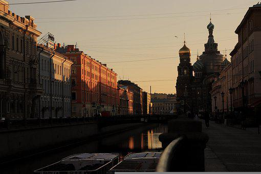 Street, Building, River, Architecture, Dawn, Travel