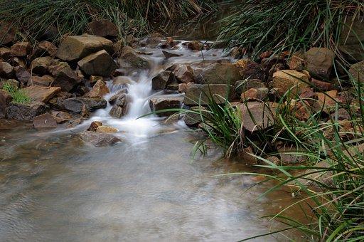 River, Flow, Waterfall, Cascade, Stone, Rapids