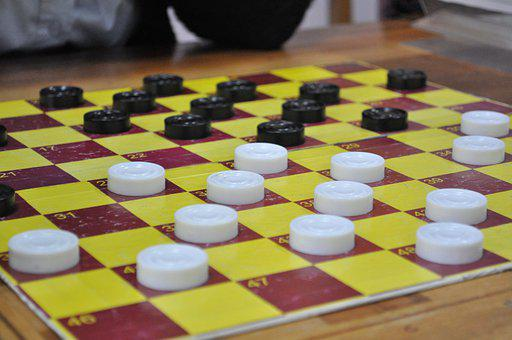 Board Game, Checkers, Draughts, Game, Table, Play