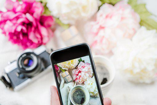 Mobile Photography, Smartphone, Flowers, Coffee