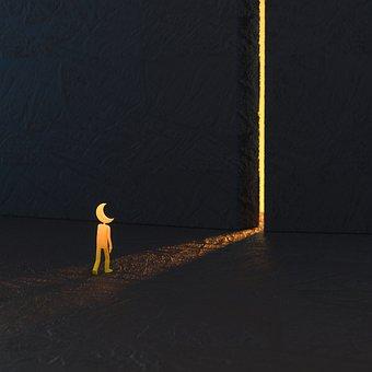 Moon, Road, Pathway, Door, Gate, Run Away, Holy