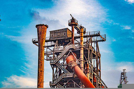 Industry, Factory, Industrial Plant, Production, Steel
