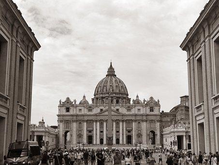 Rome, Italy, Church, Basilica, Saint Peter's Square