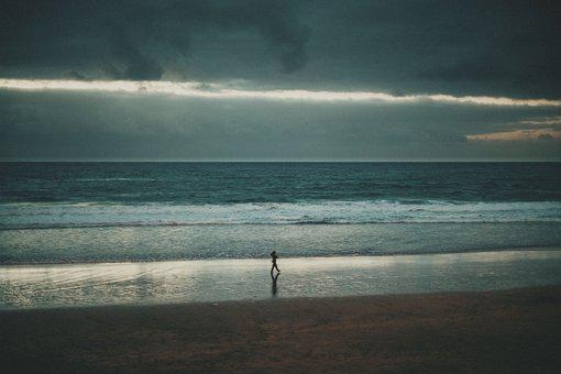 Sunset, Beach, Sea, Coast, Sand, Walk, Summer, Shore
