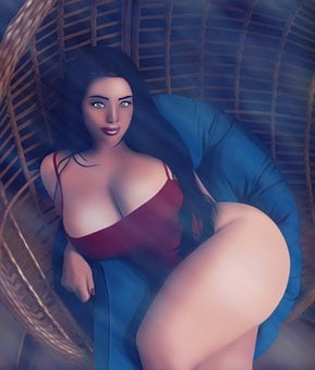 Girl, Sexy, Portrait, Digital Art, Digital Painting