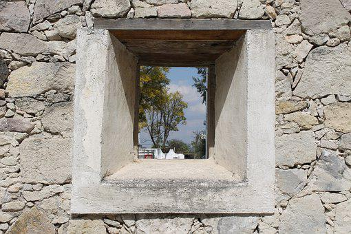Window, Stone, Wall, Frame, View, Architecture
