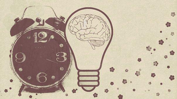 Alarm Clock, Light Bulb, Brain, Nostalgia